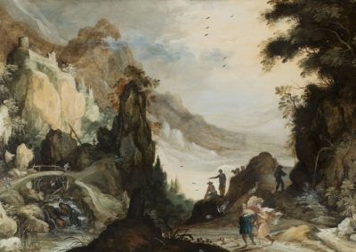Mountainous landscape with Tobias and the Angel