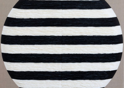 Black and white striped circle