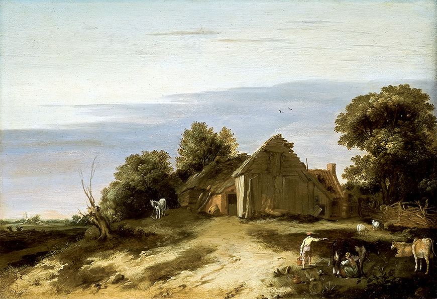 Rustic Landscape with Farm