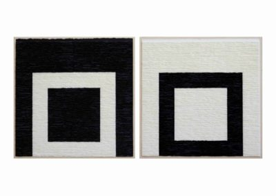 Diptych black and white structures on black and white background