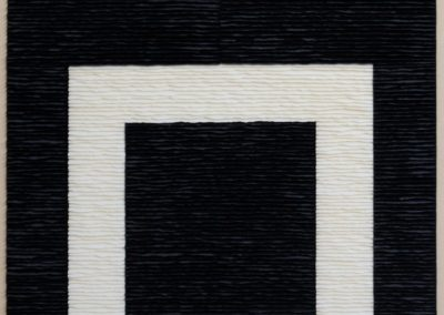 White structure on black background