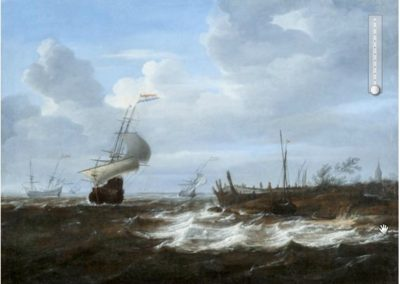 Coastal scene with boats