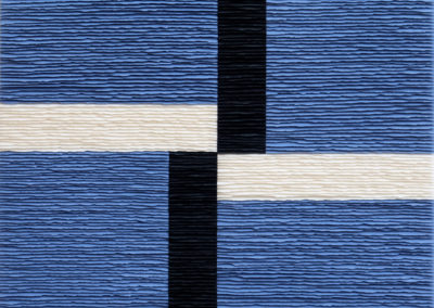 Cross composition over blue