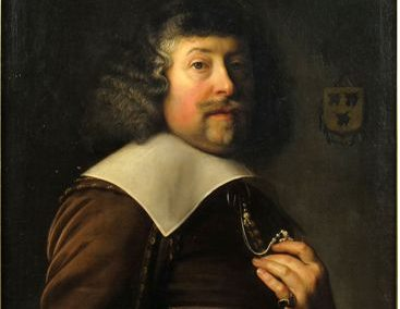 Portrait of Joseph Coymans (1591-1670s), with coats of arms, Atatis 50,  Dated in 1641