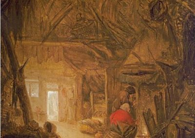 Peasants in an Interior Barn