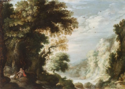 Rocky landscape with Saint John