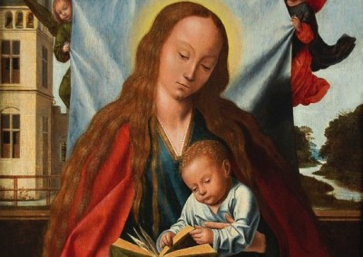 Virgin with Baby Jesus and Angels