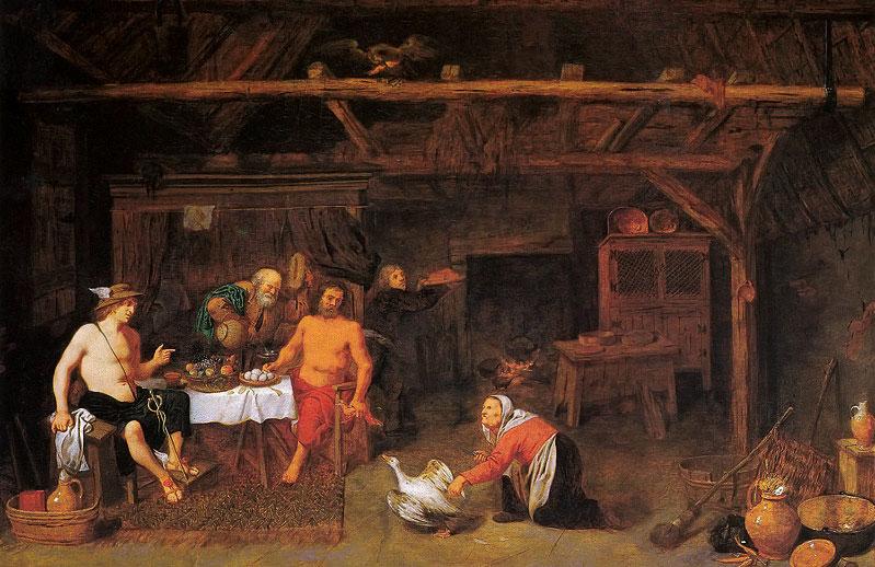 Interior con escena mitológica