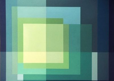 Deconstructing Albers: Blue to yellow