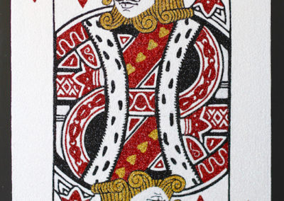 Spectral Gold King of Hearts